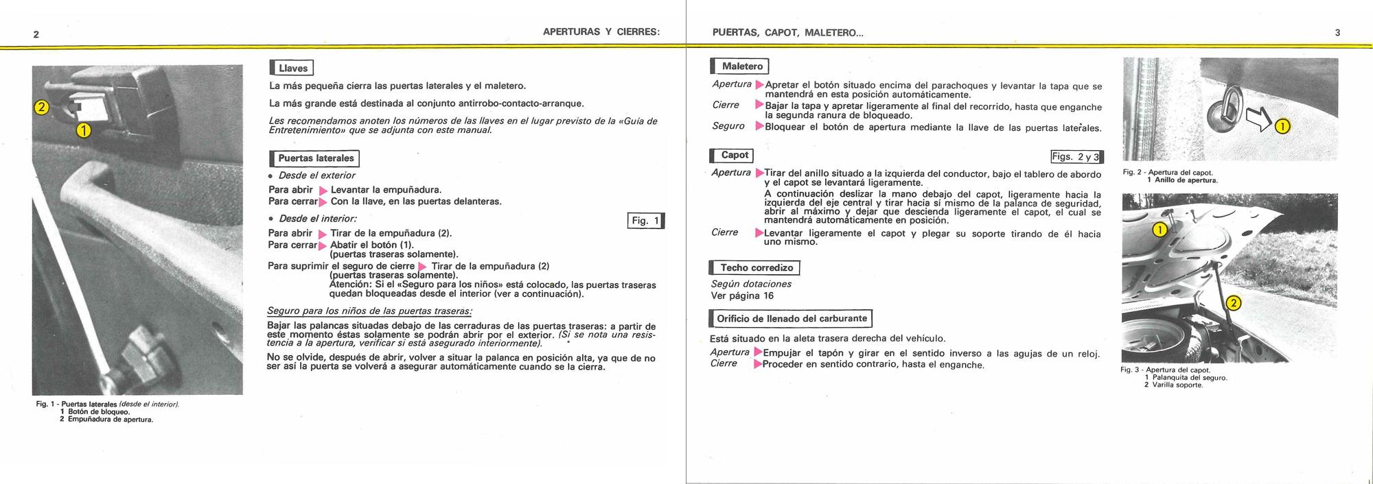 1979 Spanish Citroën GSX2 Manual de empleo (owner's manual) #1