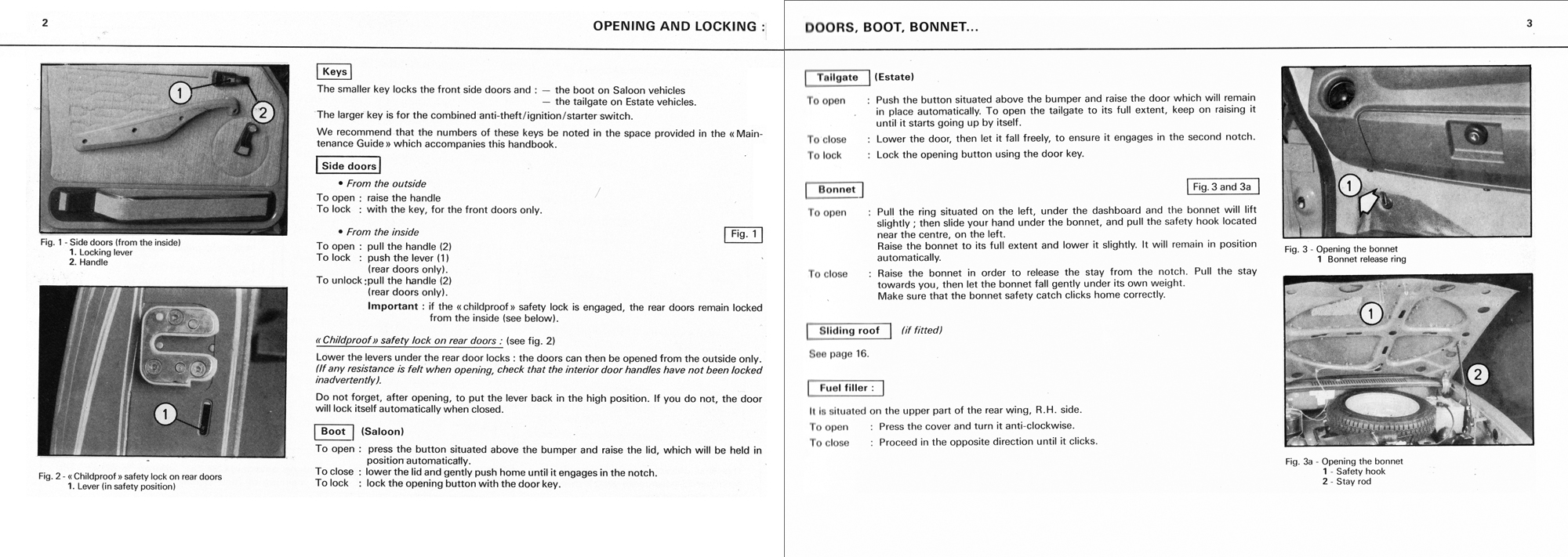 1978 Citroën GS owner's manual Page 1