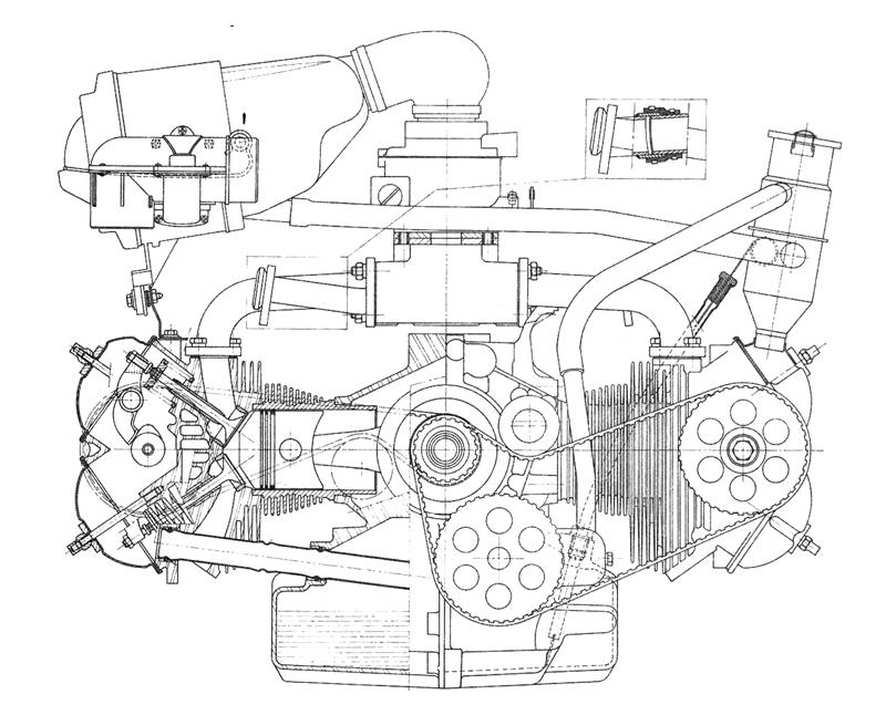subaru boxer engine layout