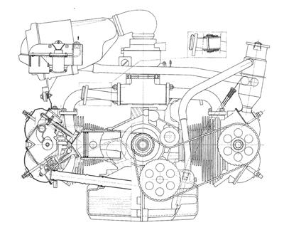 Citroën GS + GSA boxer engine