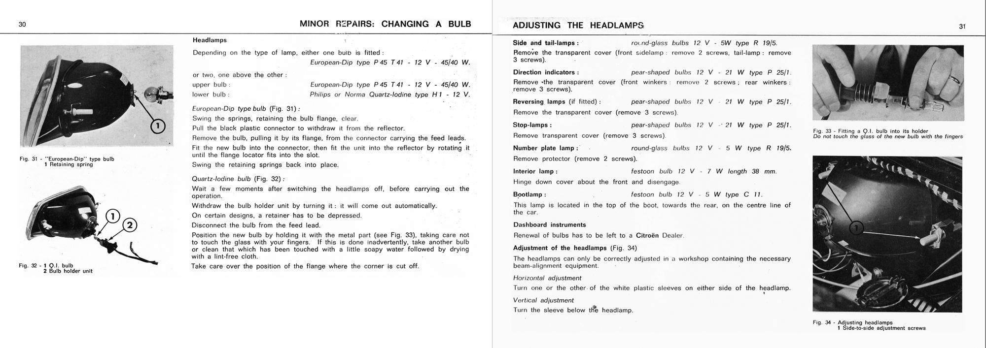 1972 Citroën GS owner's manual part 2