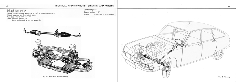 1972 Citroën GS owner's manual part 2