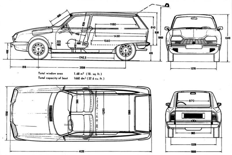 Citroën GS Editechnic drawings and Schematics