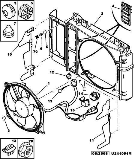 Ventilátor chlazení motoru pro Citroen Xsara Picasso 1