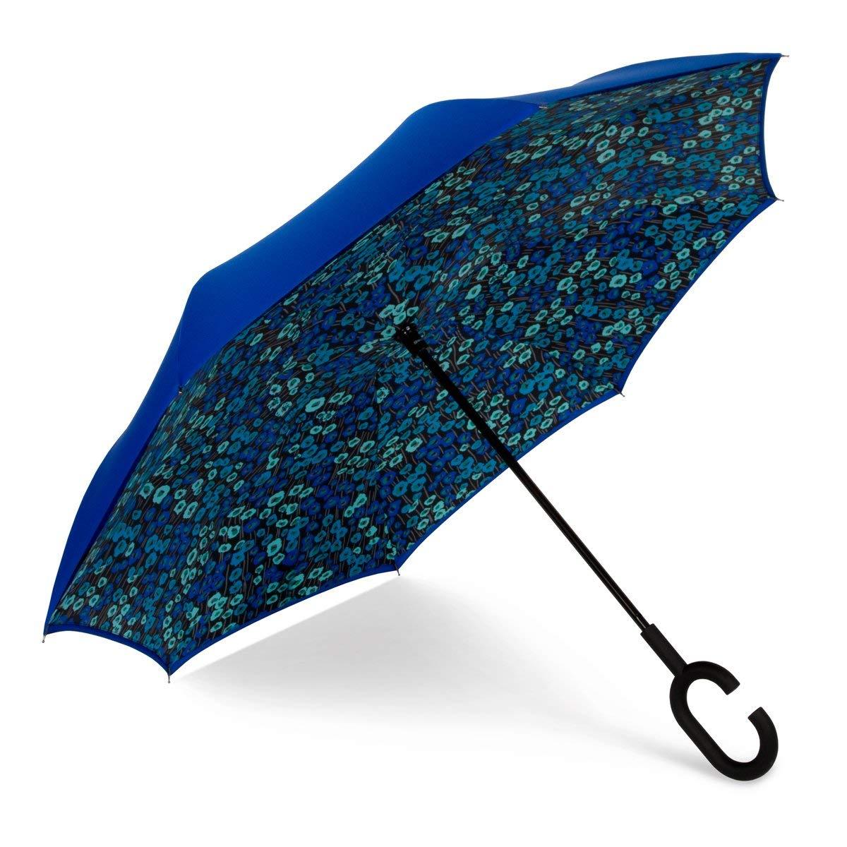 ShedRain UnbelievaBrella Fashion Floral Print Reverse Umbrella Monet