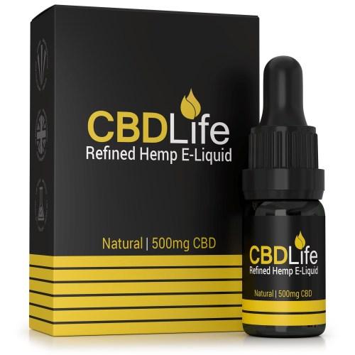 Broad Spectrum 500mg CBD E-Liquid – 10ml natural Hemp