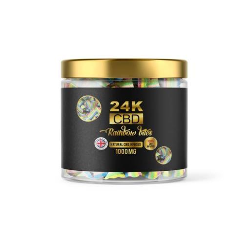 24k CBD premium cbd gummies Rainbow bites 1000mg cbd