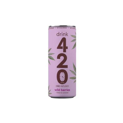 Drink 420 CBD drinks wild berries cbd infused drink 15mg cbd