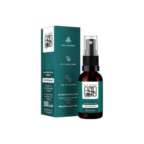 All Round CBD Anytime CBD Oral Spray peppermint 500mg cbd