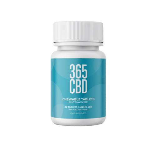 356 cbd chewable tablets mint 450mg cbd