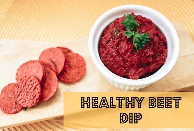 healthy quick & easy beet dip
