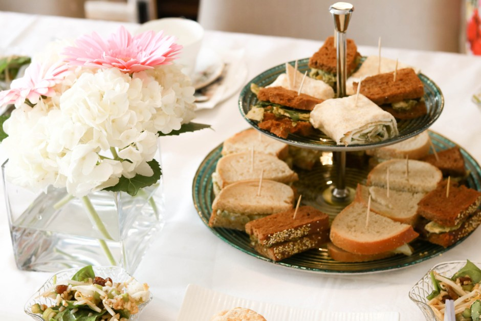 mother's day afternoon tea, scones, flowers, mini sandwich platter