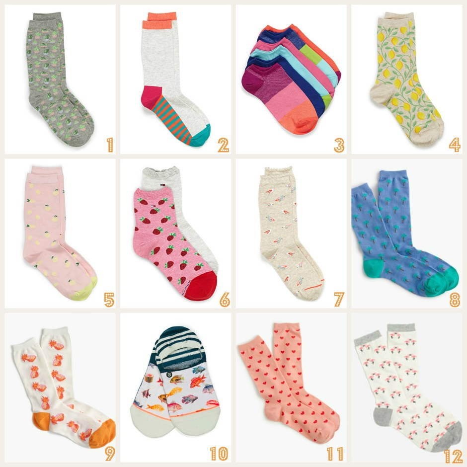 the most underrated item in your closet, bright colorful socks
