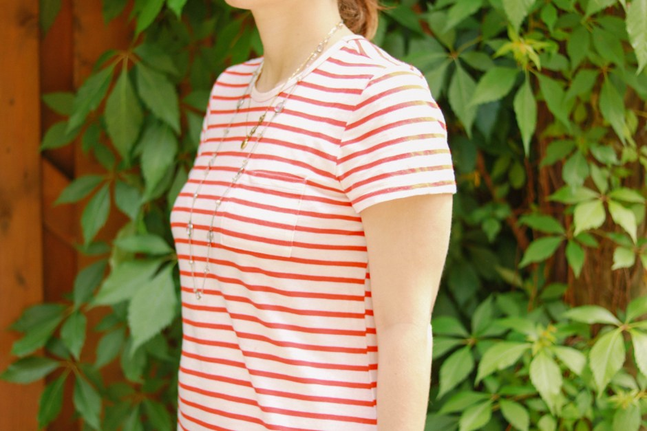 canada day outfit, red and white stripe knit dress