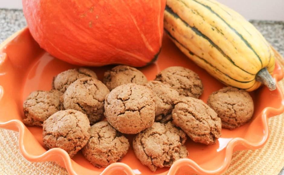 vegan gluten free soft pumpkin cookies fall recipe, healthy dessert