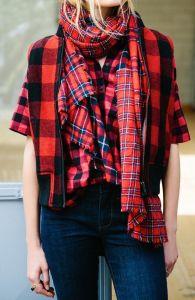 plaid shirt, plaid on plaid trend, winter style
