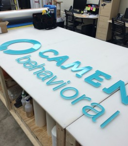 Camen behavioral sign lettering fabrication