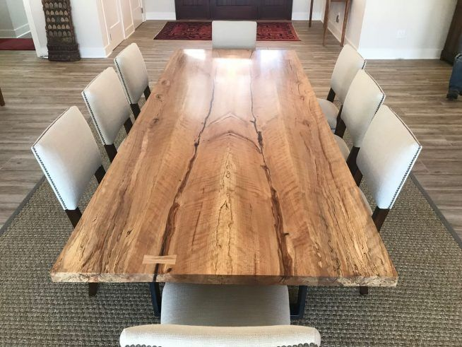 Spalted beech dining table  City Bench
