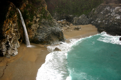 Alamere Falls  Bolinas California  40 Foot Waterfall by