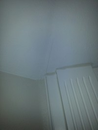 Hairline cracks and something else happening to walls ...