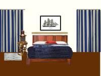 Minimilist Bedroom for a Single man. (drape, photos, light ...