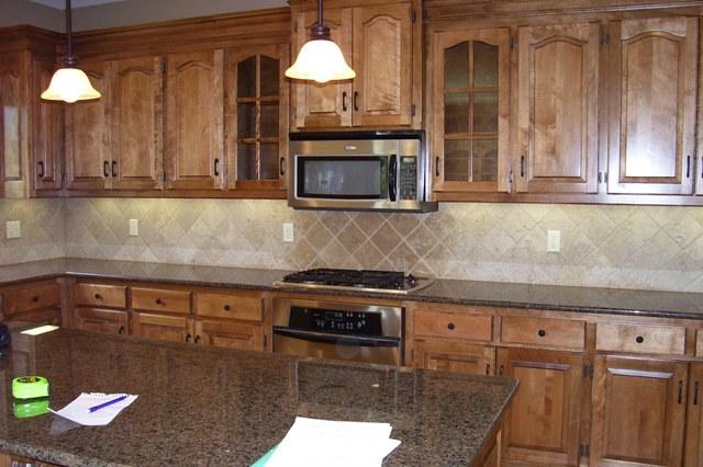 Granite color for medium wood cabinet flooring tile
