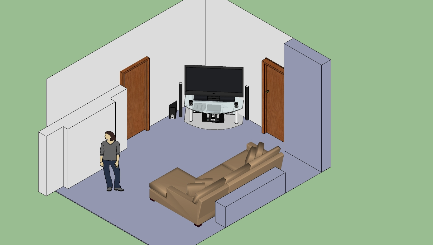 Are you thinking about remodeling your home? Furniture Arrangement (floor plan included) (fireplace ...