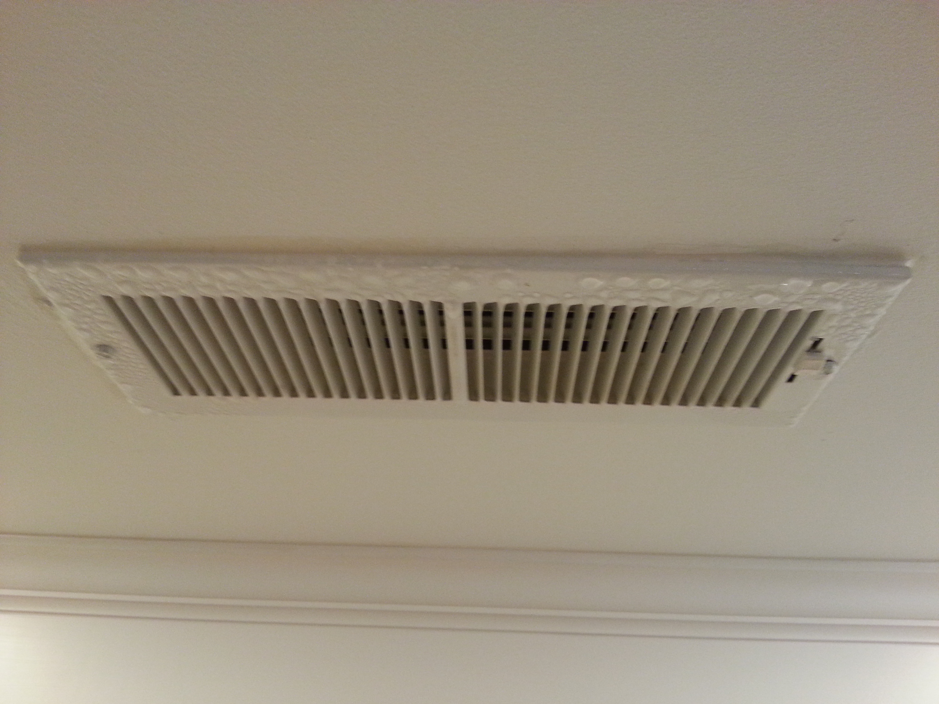 Condensation on ceiling HVAC diffusers (grill, heat