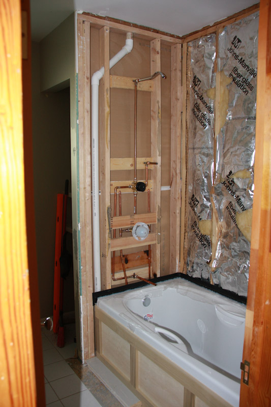 Is This Tubshower Plumbing Roughed In Correctly Floor How Much Window House Remodeling