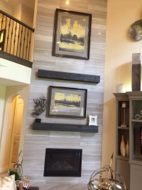 Tile around fireplace - drywall vs cement board (my ...