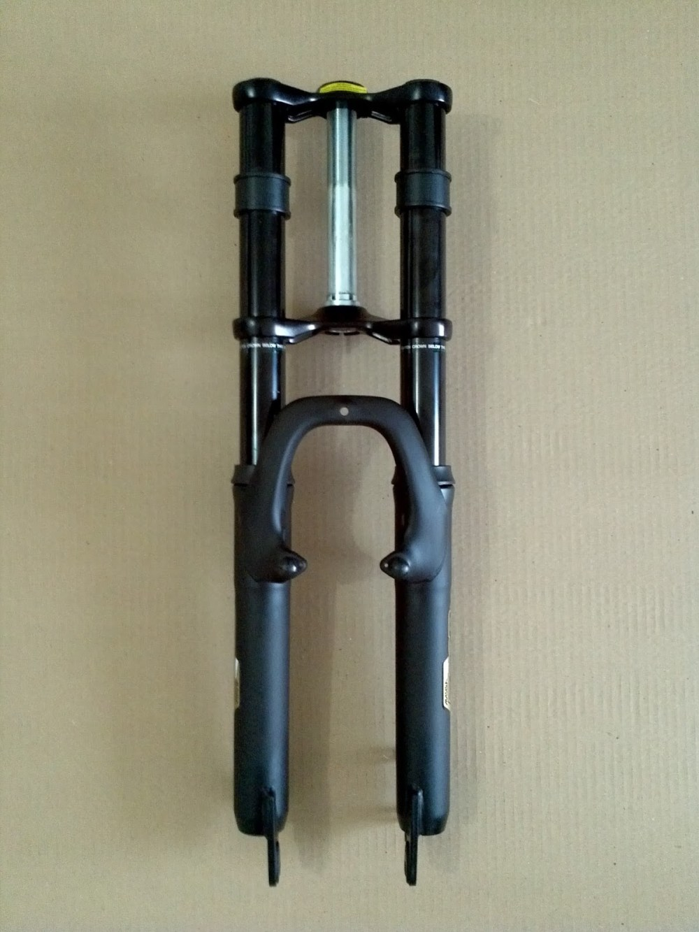 medium resolution of fitting a dirt bike fork onto a mountain bike frame triple tree