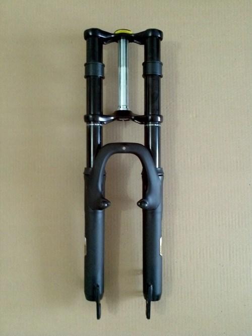 small resolution of fitting a dirt bike fork onto a mountain bike frame triple tree