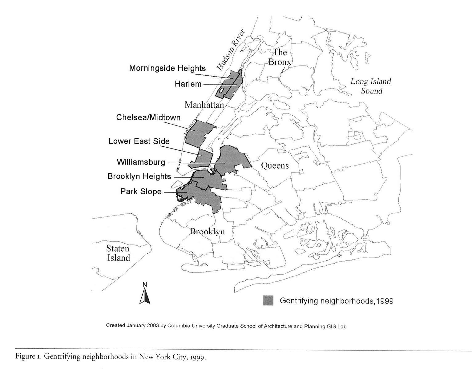 Gentrified Neighborhoods New York City