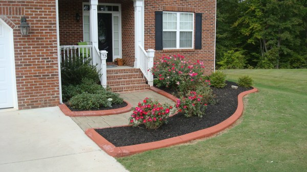 poured concrete landscape edging