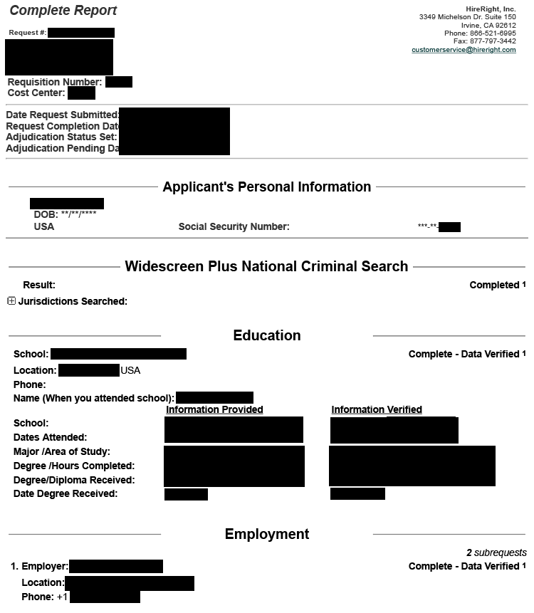 Background Checks Pre Employment Background Check