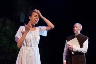 Lauren Drennan playing Ophelia in Aquila Theater's touring production of HAMLET; PHOTO CREDIT - Richard Termine