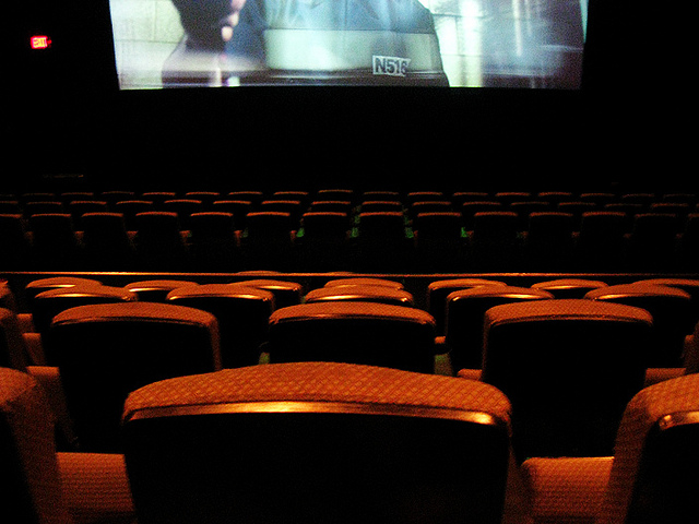 The view from the inside of a movie theatre