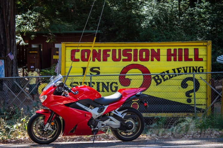 VFR800 Interceptor at Confusion Hill. Photo: Surj Gish.