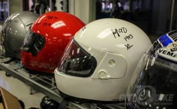 Labeled helmets. Photos: Angelica Rubalcaba.