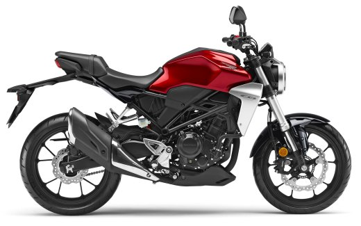 New 2019 Honda CBR300R Chromosphere Red side view
