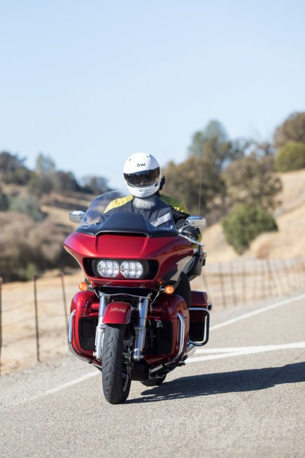 We had mixed experiences with the short windshield - Harley-Davidson Road Glide Ultra.