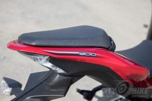 "Pillion ""seat"" on the 2018 Kawasaki Z900 ABS. Photo: Angelica Rubalcaba."