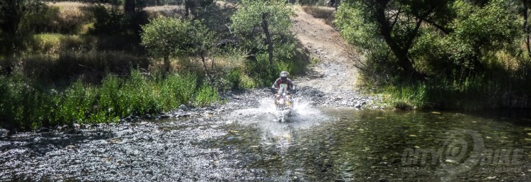 Water crossing on the Rally at the 2018 Sheetiron.