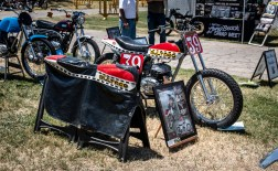 Bultaco with a super sweet custom cover at the 2018 Hanford.