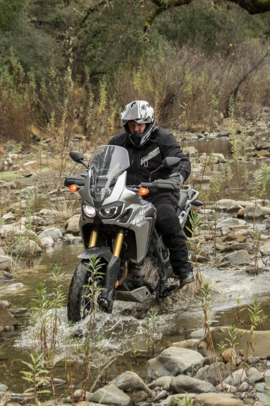 Fish's rocky water crossing on Honda's Africa Twin DCT