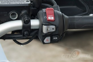 Honda Africa Twin DCT right control pod with DCT control. Photo: Max Klein.
