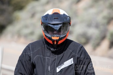 Schuberth E1 Modular Adventure Helmet, front view