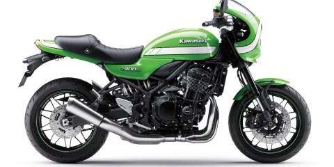 2018 Kawasaki Z900RS Cafe in green.