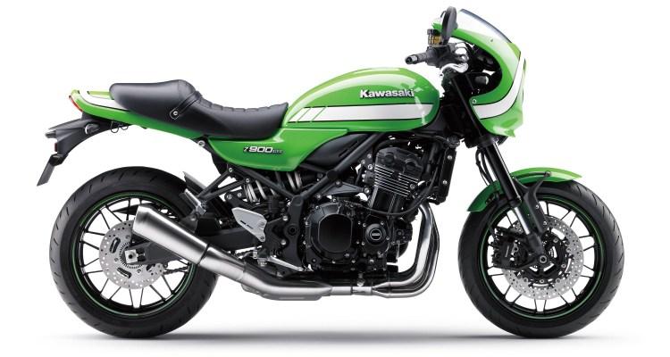 2018 Kawasaki Z900RS Cafe in green.