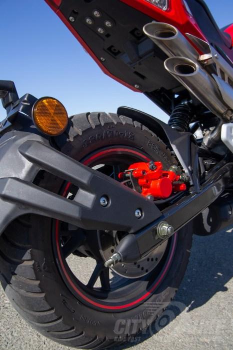2018 Benelli TNT135 rear wheel
